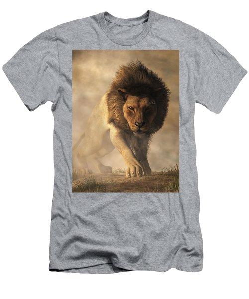 Men's T-Shirt (Athletic Fit) featuring the digital art Lion by Daniel Eskridge