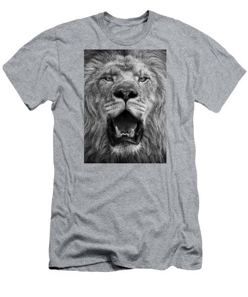 Men's T-Shirt (Athletic Fit) featuring the photograph Lion Face by Ken Barrett