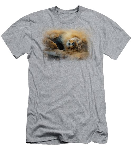 Lion Love 2 Men's T-Shirt (Slim Fit) by Jai Johnson