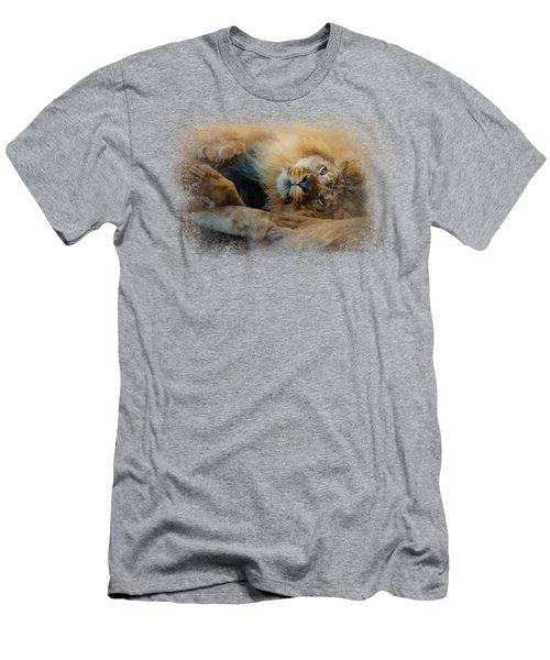 Lion Love 2 Men's T-Shirt (Athletic Fit)