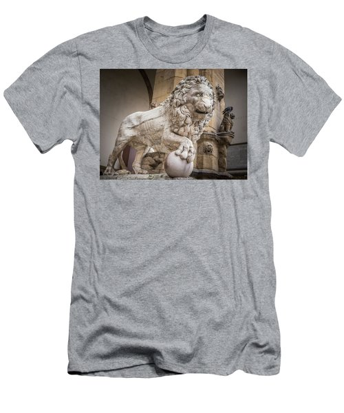 Lion On The Porch Men's T-Shirt (Athletic Fit)