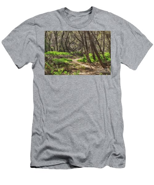 Lion Trail At Hassayampa Nature Reserve Men's T-Shirt (Slim Fit) by Anne Rodkin