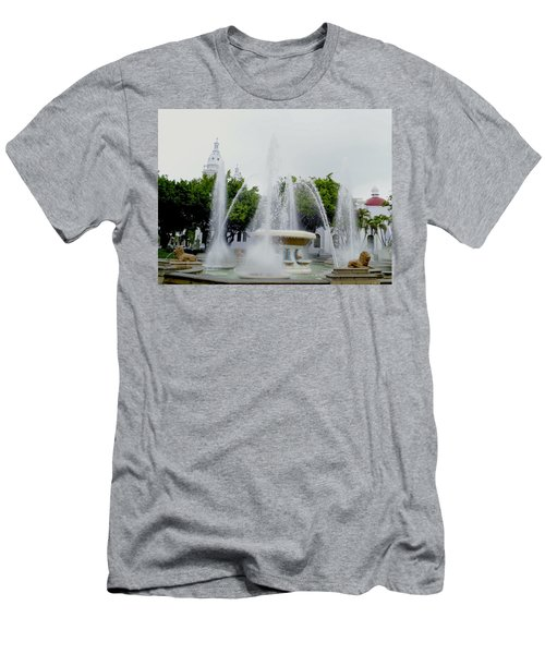 Lions Fountain, Ponce, Puerto Rico Men's T-Shirt (Athletic Fit)
