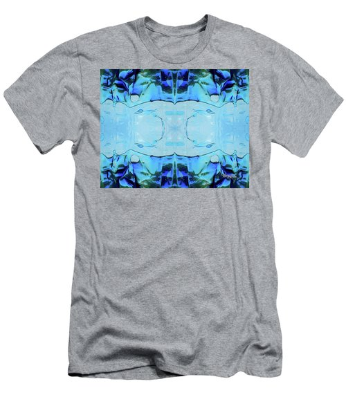 Men's T-Shirt (Athletic Fit) featuring the digital art Liquid Abstract  #0059-2 by Barbara Tristan
