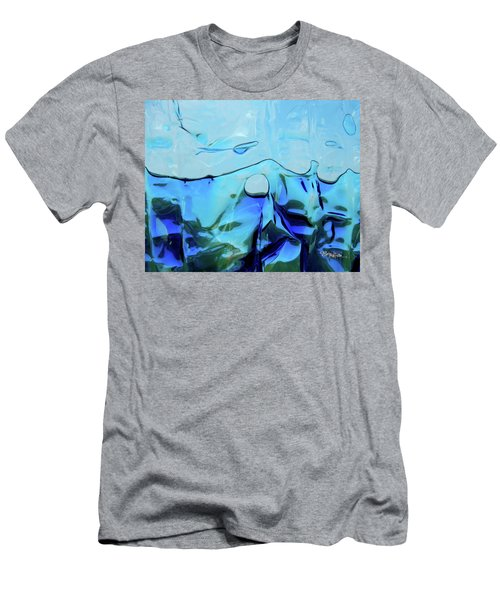Men's T-Shirt (Athletic Fit) featuring the photograph Liquid Abstract  #0059 by Barbara Tristan