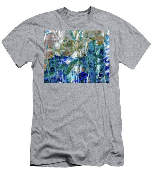 Men's T-Shirt (Athletic Fit) featuring the photograph Liquid Abstract #0061 by Barbara Tristan