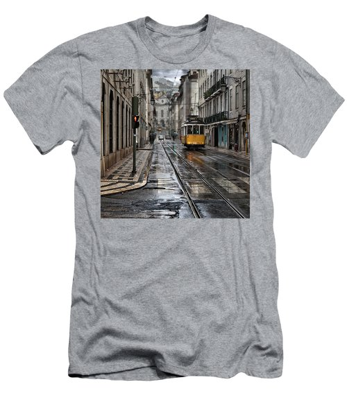 Men's T-Shirt (Slim Fit) featuring the photograph Lisbon Streets by Jorge Maia