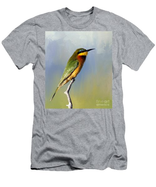 Men's T-Shirt (Slim Fit) featuring the photograph Little Bee-eater by Myrna Bradshaw