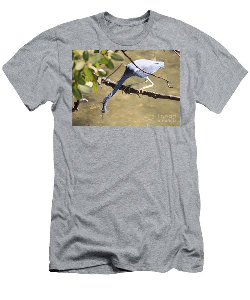 Tricolored Heron Fishing Men's T-Shirt (Athletic Fit)