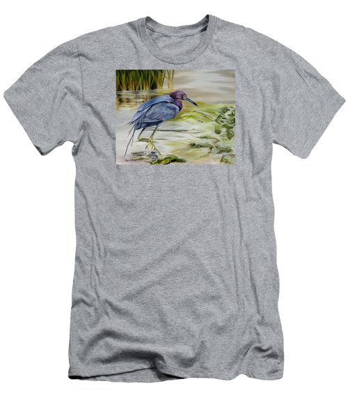 Little Blue Heron In The Bay Men's T-Shirt (Slim Fit) by Phyllis Beiser