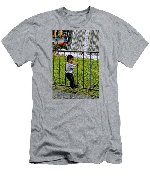 Little Boy In Peru Men's T-Shirt (Athletic Fit)