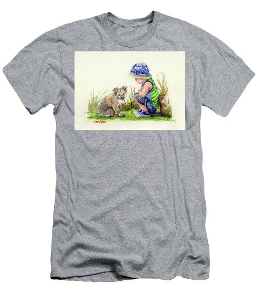 Little Friends Watercolor Men's T-Shirt (Slim Fit) by Margaret Stockdale