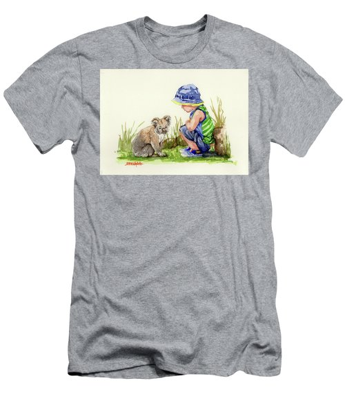 Little Friends Watercolor Men's T-Shirt (Slim Fit)