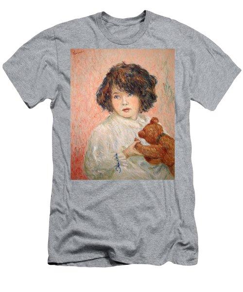 Little Girl With Bear Men's T-Shirt (Slim Fit) by Pierre Van Dijk