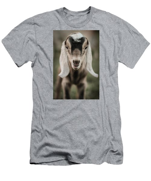 Men's T-Shirt (Slim Fit) featuring the photograph Little Goat In Color by Kelly Hazel