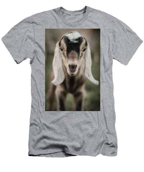 Little Goat In Color Men's T-Shirt (Athletic Fit)