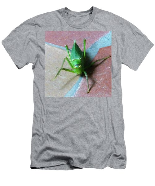 Men's T-Shirt (Athletic Fit) featuring the photograph Little Grasshopper by Denise Fulmer
