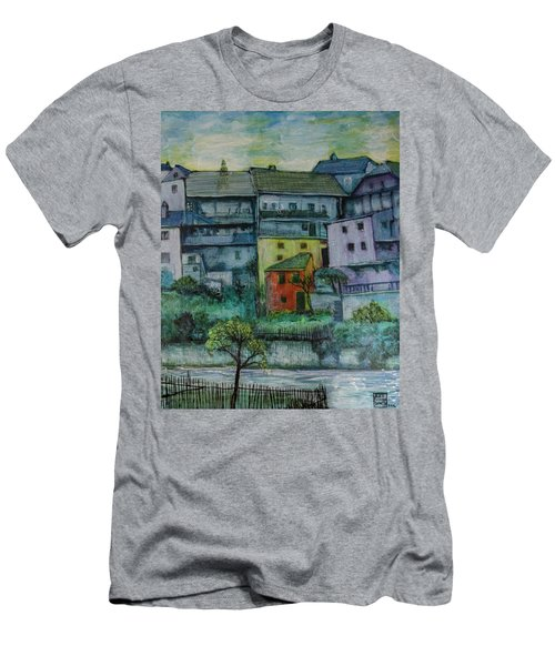 River Homes Men's T-Shirt (Slim Fit) by Ron Richard Baviello