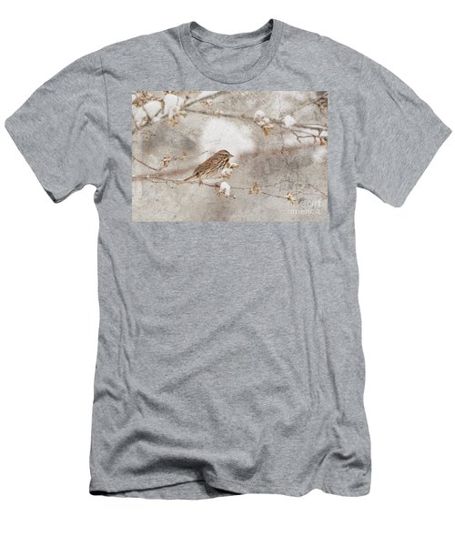 Little House Sparrow Men's T-Shirt (Slim Fit) by Lila Fisher-Wenzel