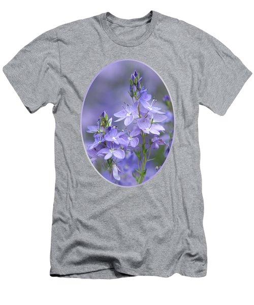 Little Purple Flowers Vertical Men's T-Shirt (Athletic Fit)