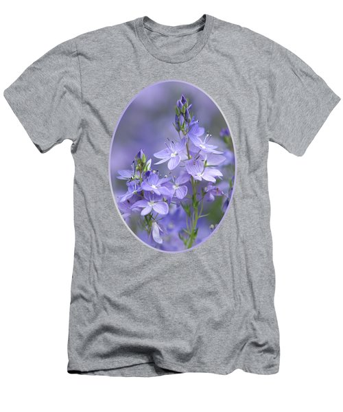 Little Purple Flowers Vertical Men's T-Shirt (Athletic Fit)