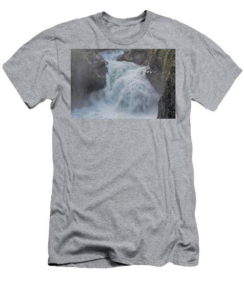 Little Qualicum Upper Falls Men's T-Shirt (Slim Fit) by Randy Hall