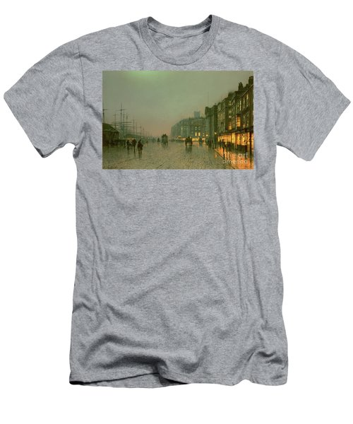 Liverpool Docks From Wapping Men's T-Shirt (Athletic Fit)