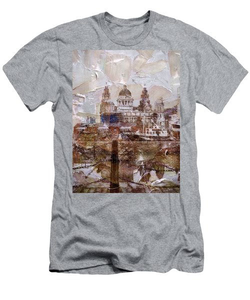 Men's T-Shirt (Athletic Fit) featuring the painting Liverpool by Mark Taylor