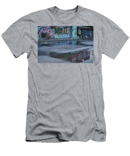 Men's T-Shirt (Athletic Fit) featuring the photograph Ljubljana Graffiti Reflections #2 - Slovenia by Stuart Litoff