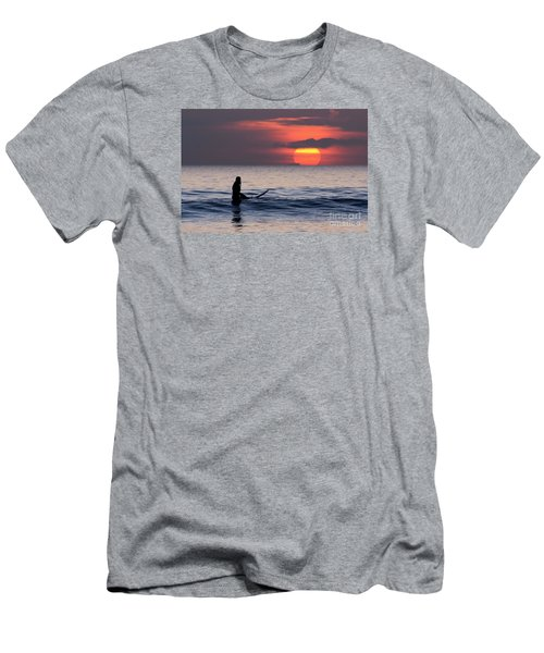 Llangennith One More Wave Men's T-Shirt (Athletic Fit)