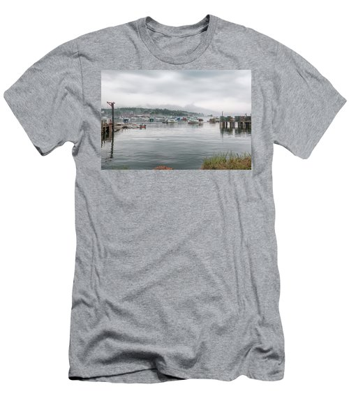 Men's T-Shirt (Athletic Fit) featuring the photograph Lobster Fleet by John M Bailey