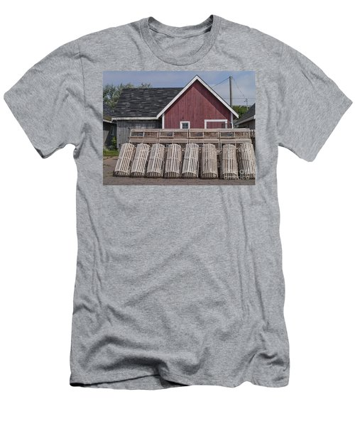 Lobster Traps Prince Edward Island Men's T-Shirt (Athletic Fit)