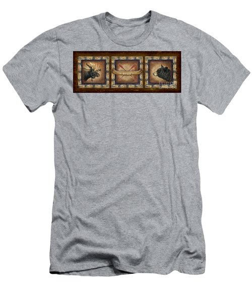 Lodge Panel Men's T-Shirt (Slim Fit) by Joe Low