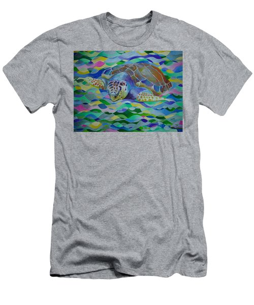 Loggerhead Turtle Men's T-Shirt (Athletic Fit)