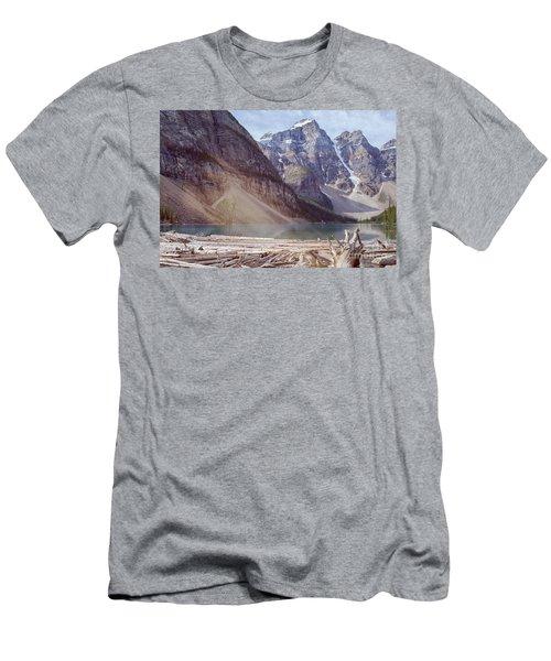 Logs At Lake Moraine Men's T-Shirt (Slim Fit) by Patricia Hofmeester