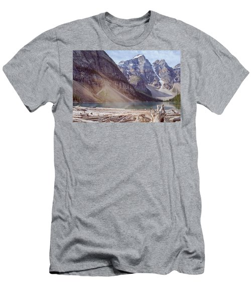 Logs At Lake Moraine Men's T-Shirt (Athletic Fit)