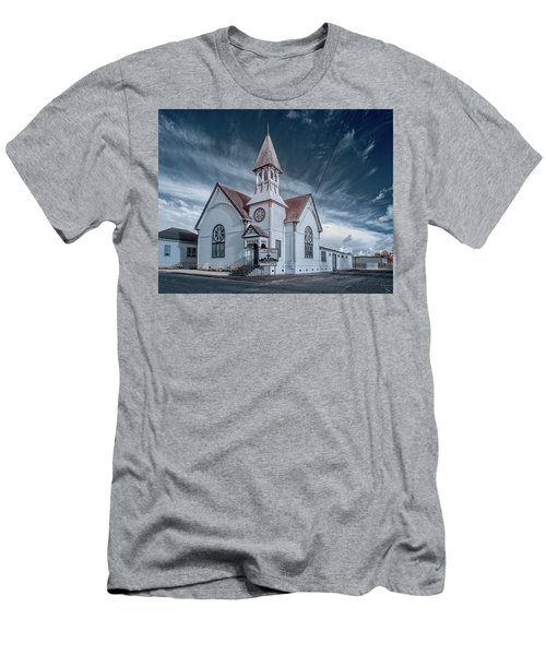 Men's T-Shirt (Slim Fit) featuring the photograph Loleta Church by Greg Nyquist