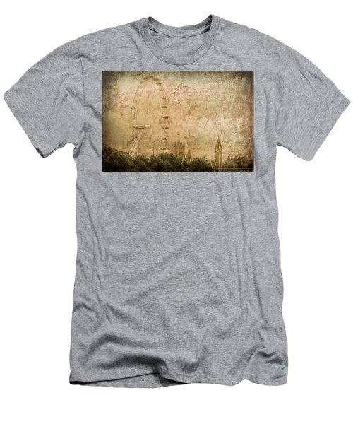 London, England - London Eye Men's T-Shirt (Athletic Fit)