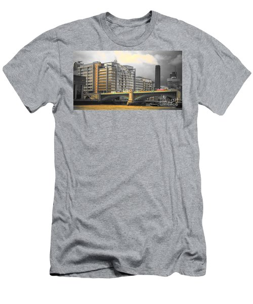 London Men's T-Shirt (Slim Fit) by Therese Alcorn