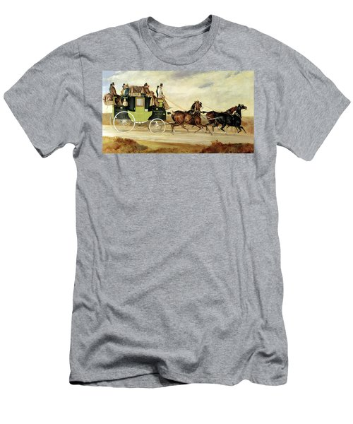 London To Bristol And Bath Stage Coach Men's T-Shirt (Athletic Fit)
