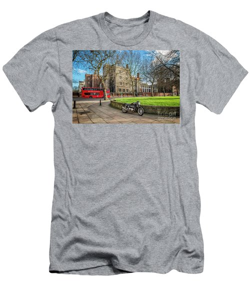 Men's T-Shirt (Slim Fit) featuring the photograph London Transport by Adrian Evans