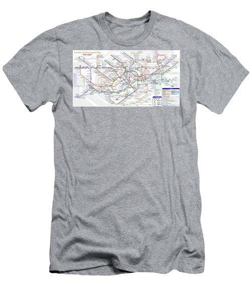 London Underground Map Men's T-Shirt (Athletic Fit)