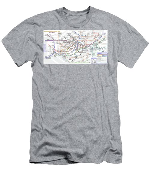 London Underground Map Men's T-Shirt (Athletic Fit)