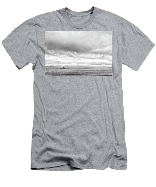 Men's T-Shirt (Athletic Fit) featuring the photograph Lone Island In The Pacific by Jingjits Photography