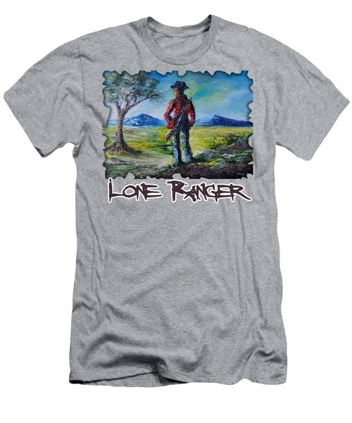 Lone Ranger On Foot Men's T-Shirt (Athletic Fit)