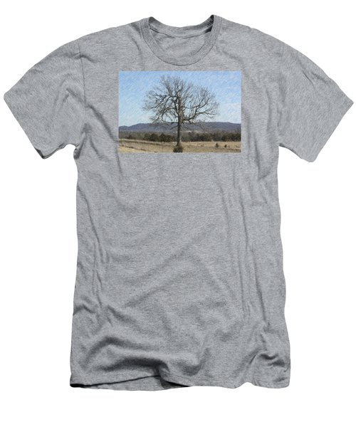 Lone Tree Men's T-Shirt (Slim Fit) by Donna G Smith