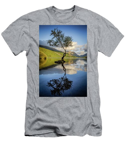 Lone Tree, Llyn Padarn Men's T-Shirt (Athletic Fit)