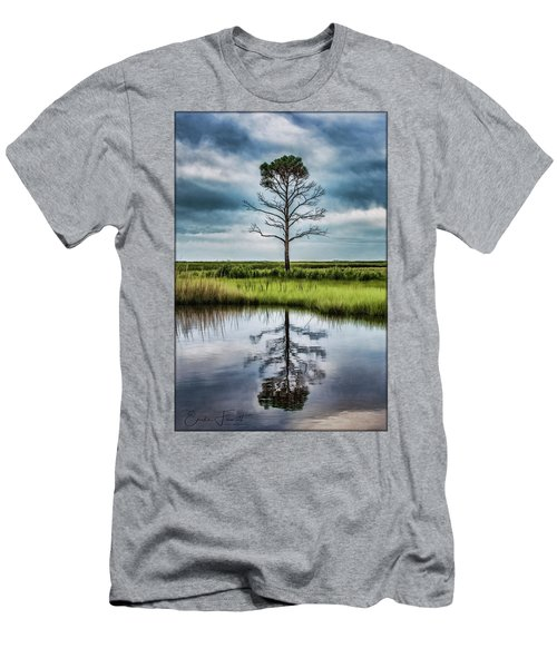 Lone Tree Reflected Men's T-Shirt (Athletic Fit)