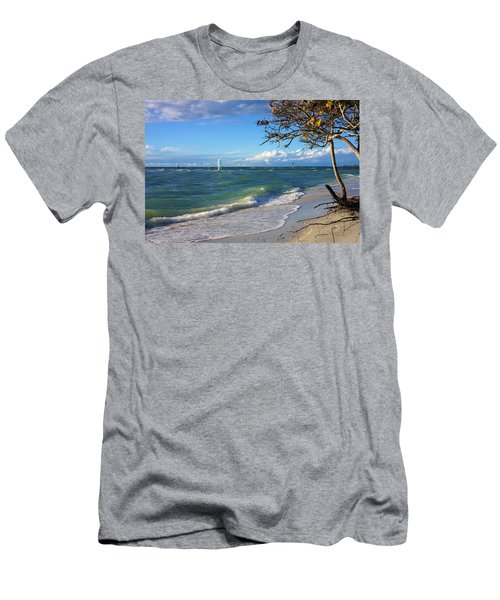 Lone Windsurfer At Wiggins Pass Men's T-Shirt (Athletic Fit)