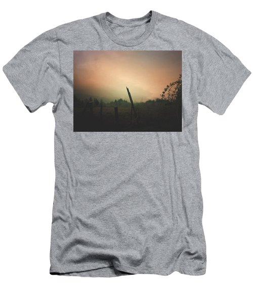 Lonely Fence Post  Men's T-Shirt (Athletic Fit)